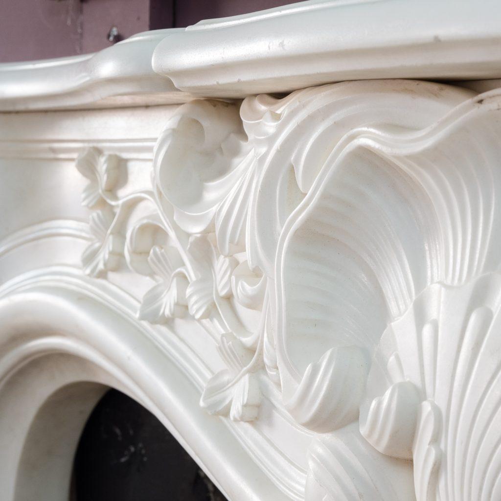 Early nineteenth century English Rococo Statuary marble chimneypiece,-124951