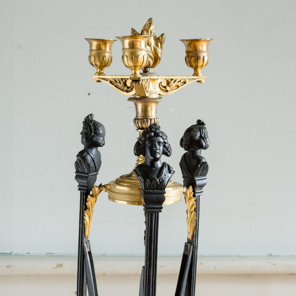 Regency parcel-gilt bronze candelabra,-126084