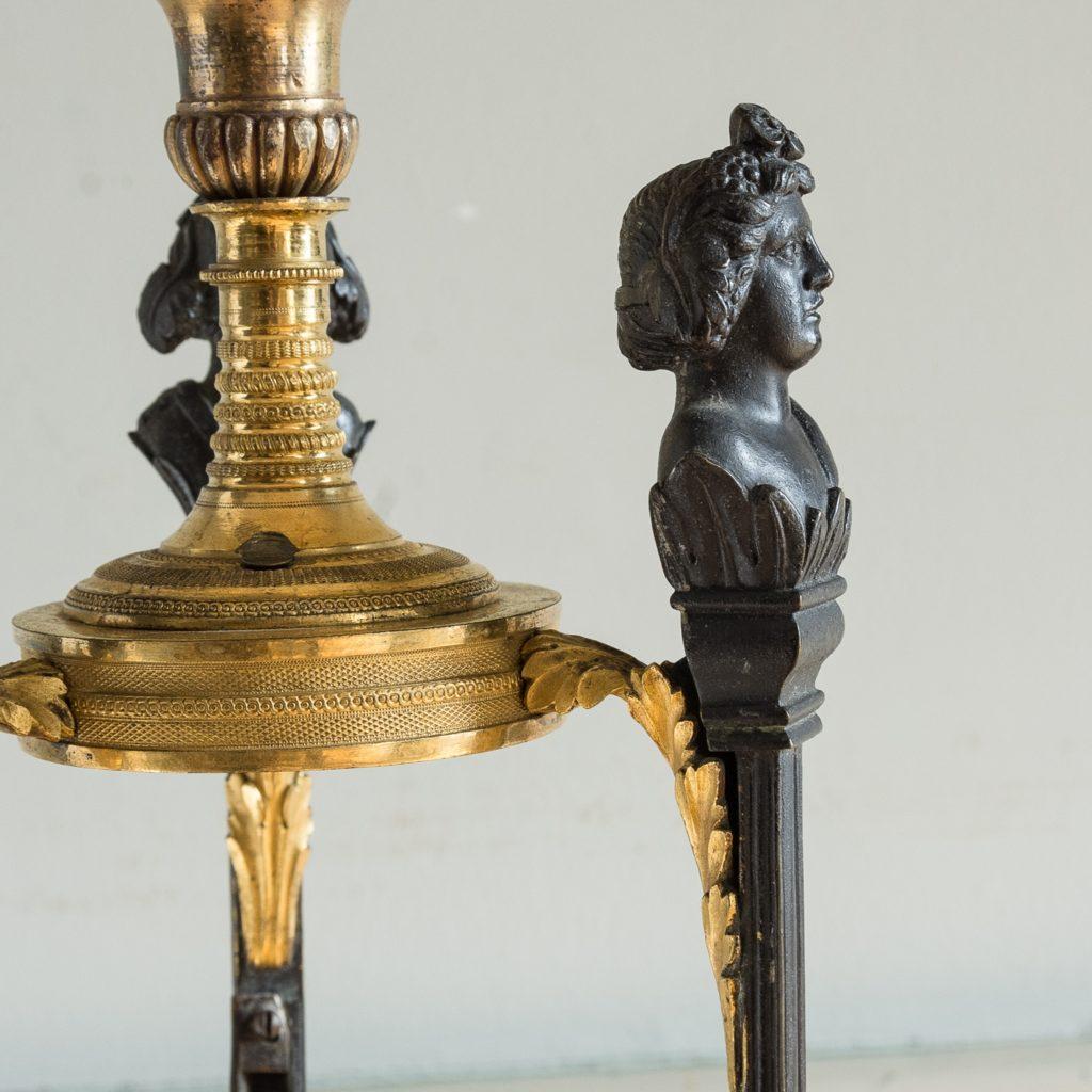 Regency parcel-gilt bronze candelabra,-126088