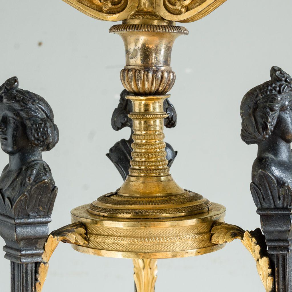 Regency parcel-gilt bronze candelabra,-126089