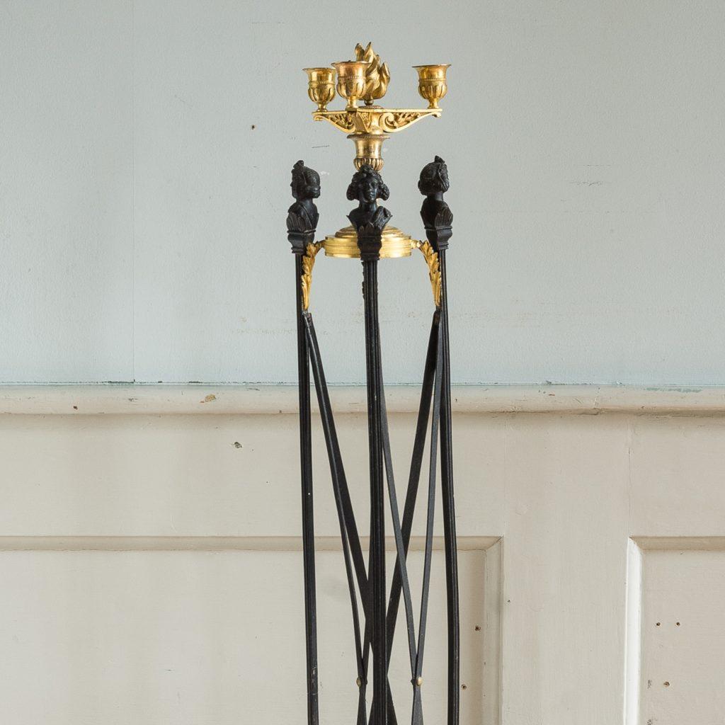 Regency parcel-gilt bronze candelabra,