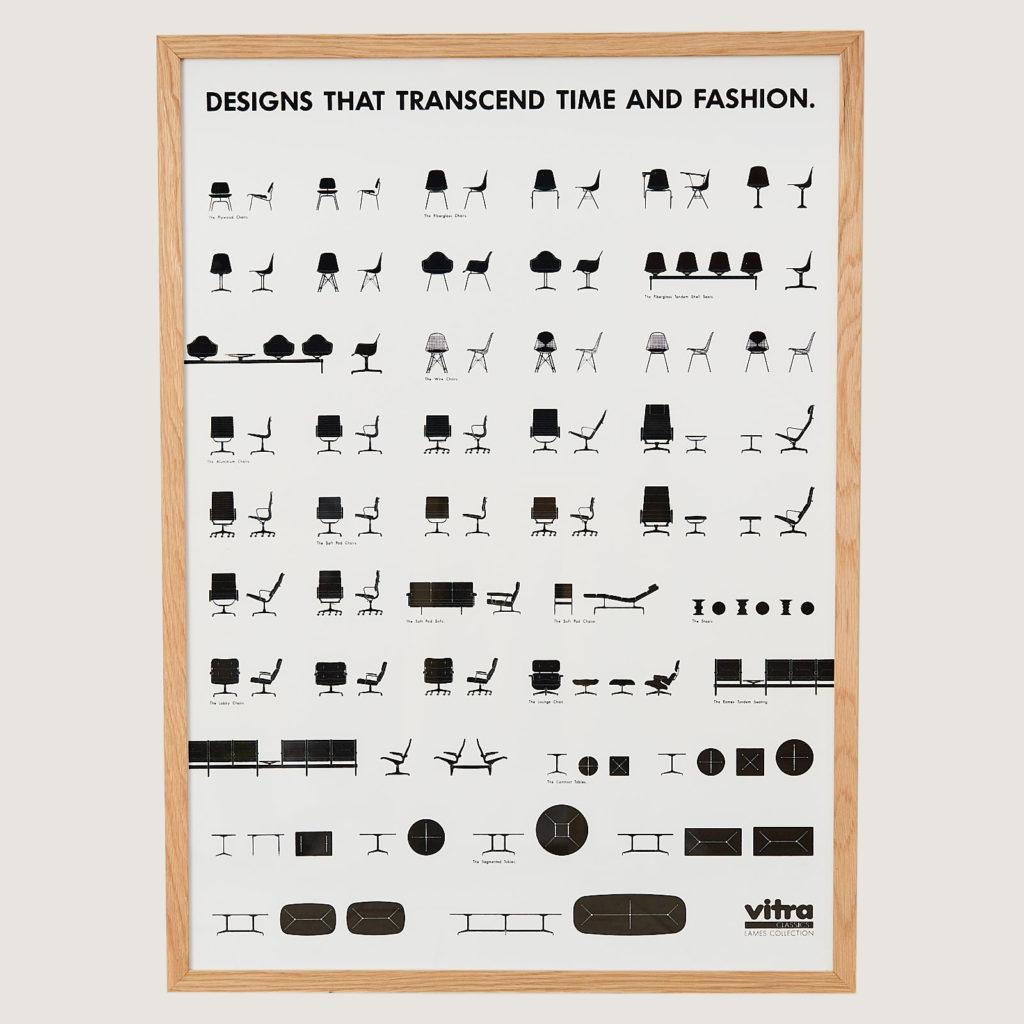 Vitra, Eames collection original print,-0