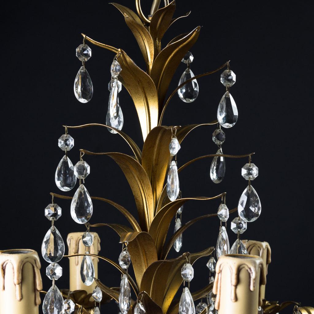 Six branch decorative metal chandelier-126876