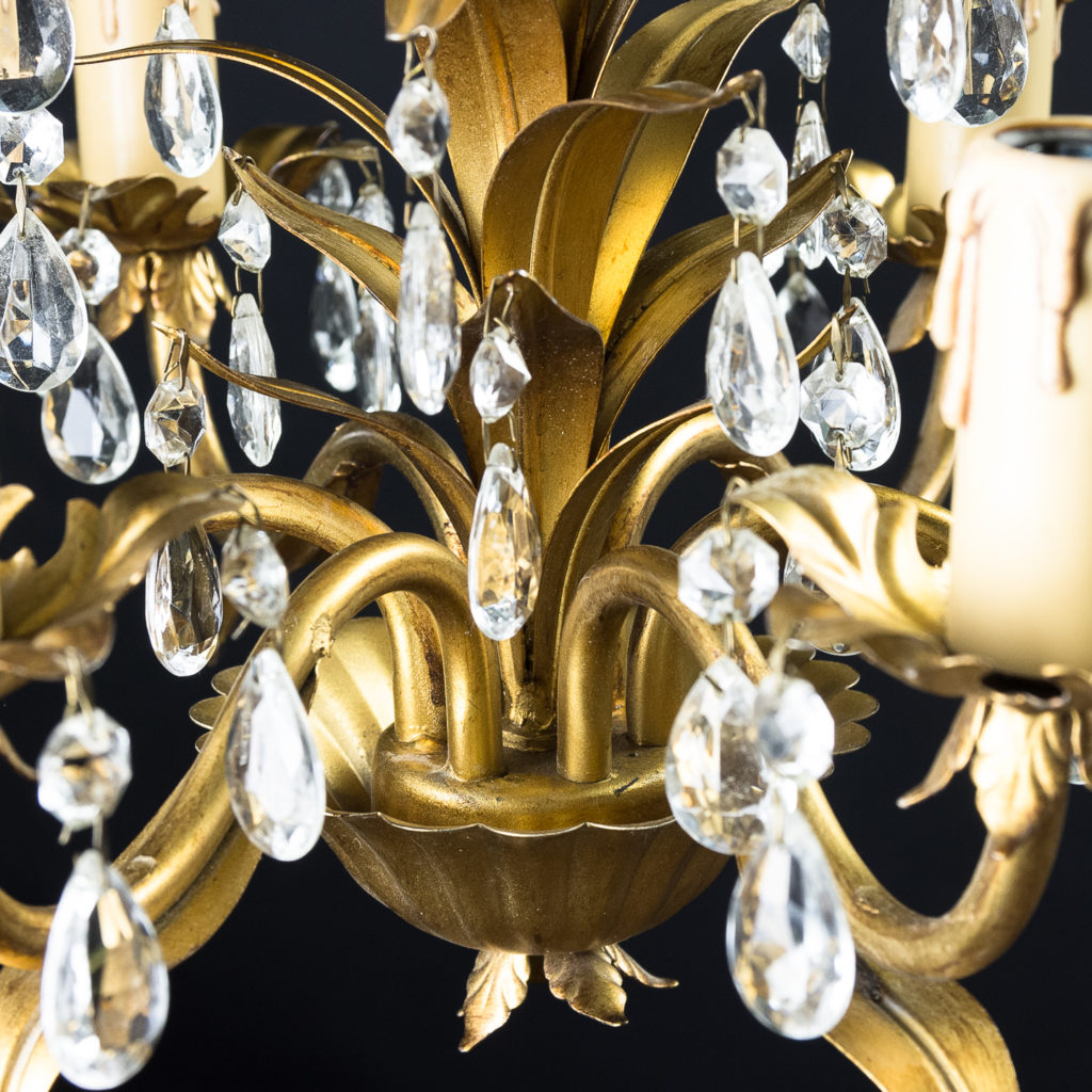 Six branch decorative metal chandelier-126880