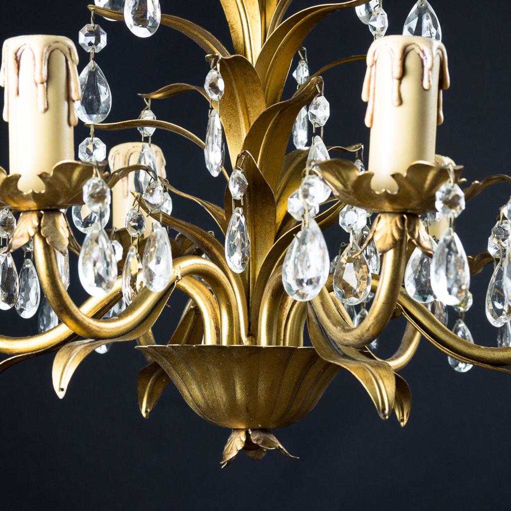 Six branch decorative metal chandelier-126879