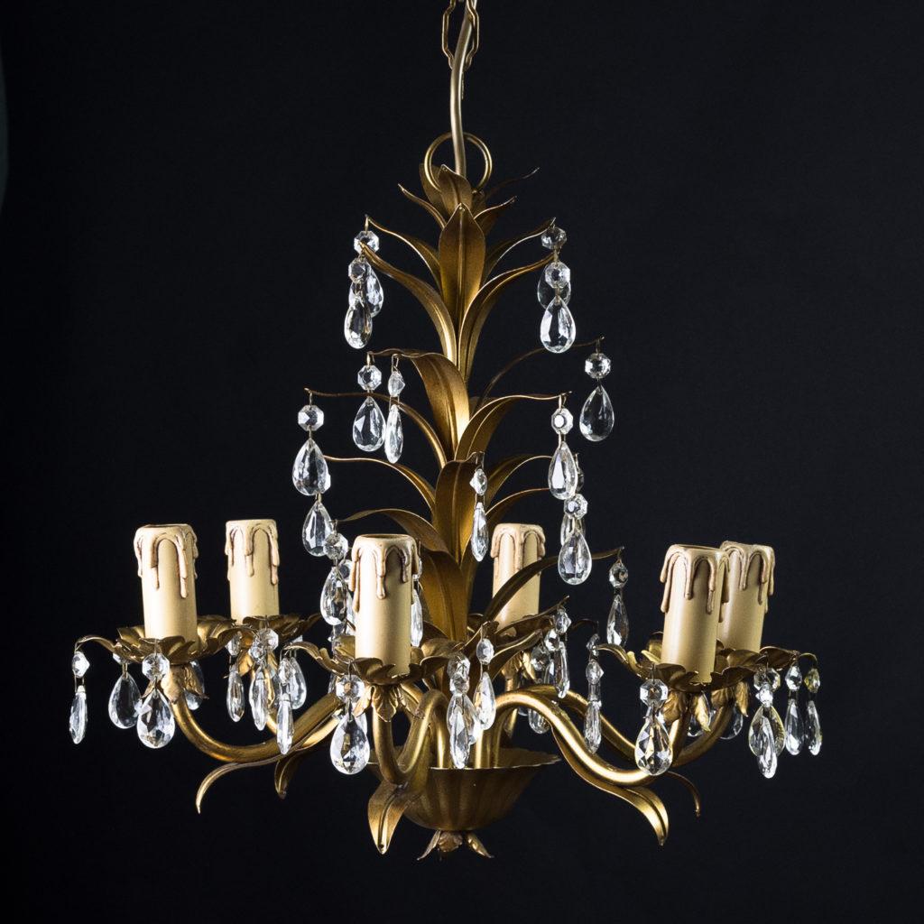 Six branch decorative metal chandelier-126875