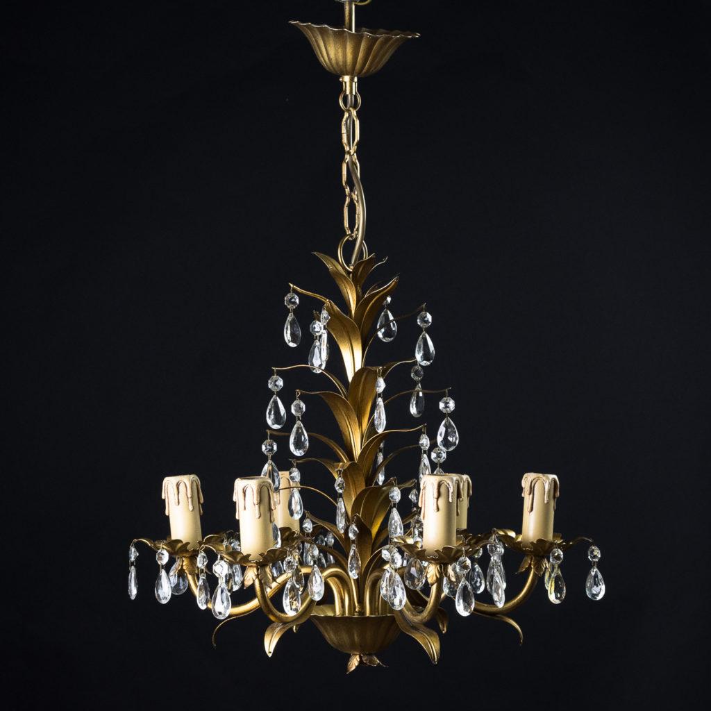 Six branch decorative metal chandelier-126874