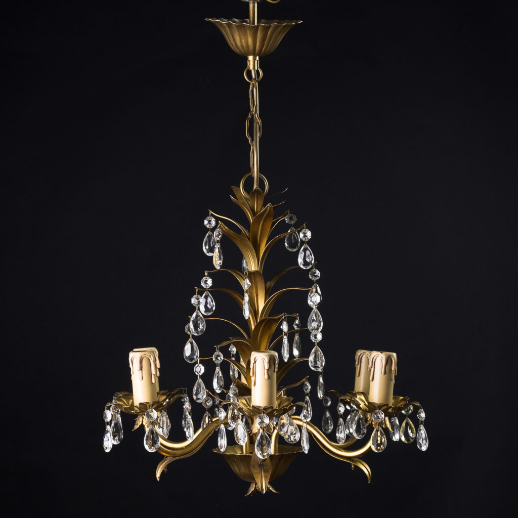 Six branch decorative metal chandelier-0