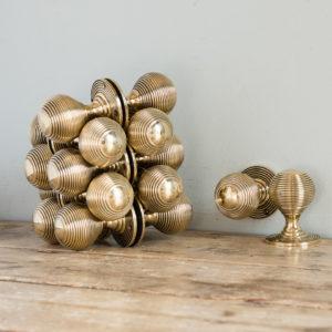 brass beehive door knobs