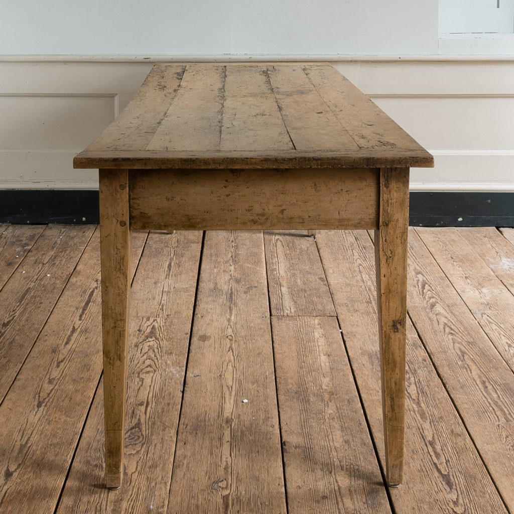 Nineteenth century French fruitwood farmhouse dining table