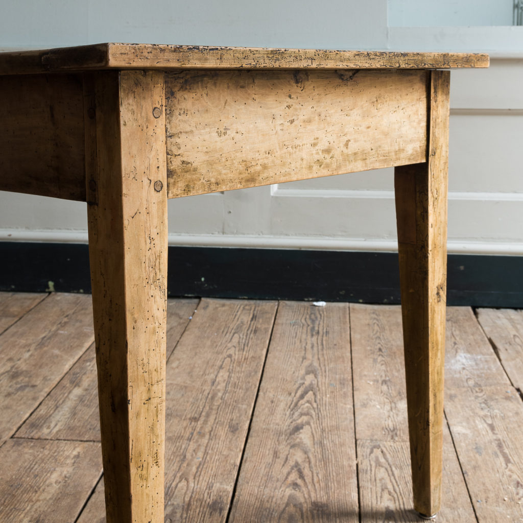 Nineteenth century French fruitwood farmhouse dining table,-126568
