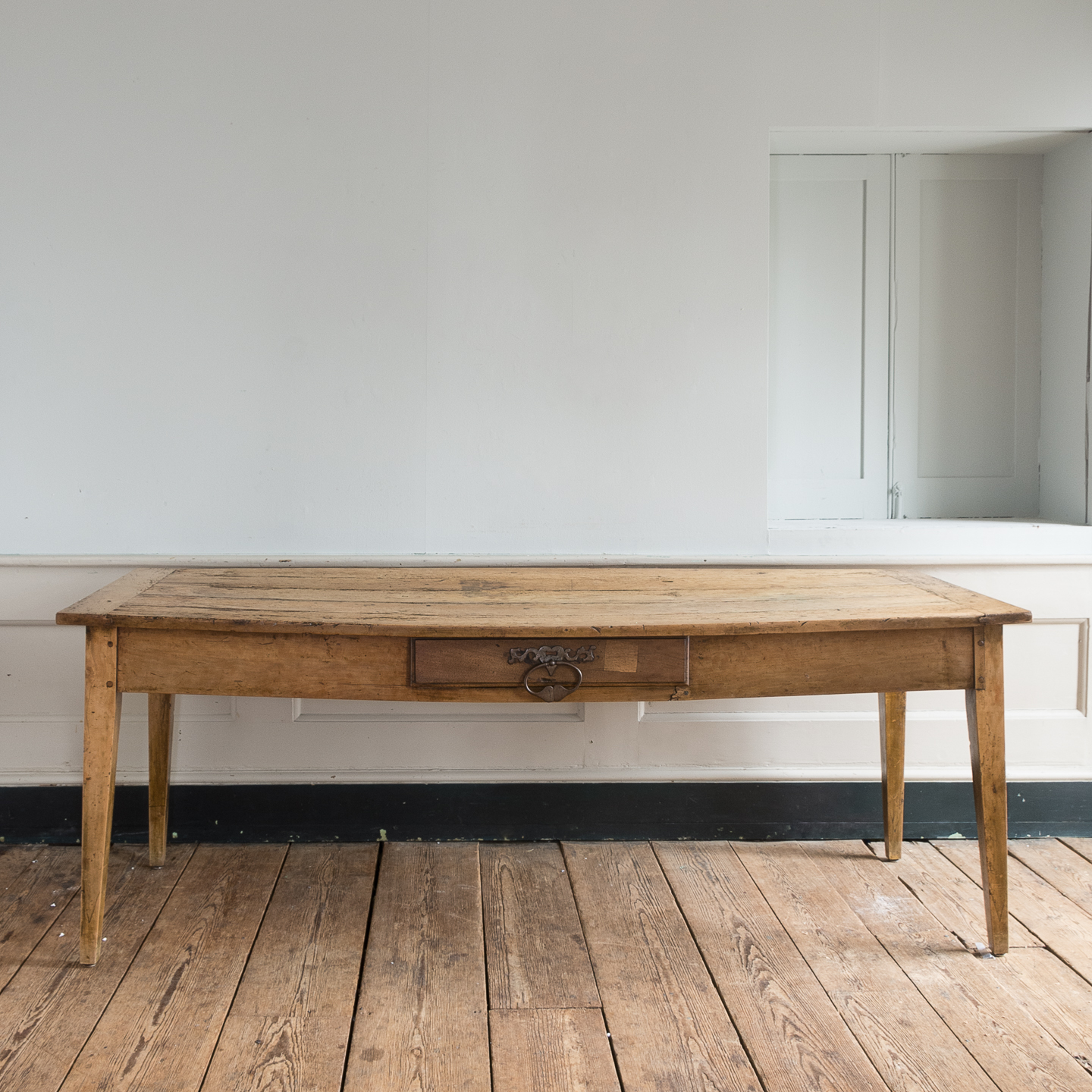 19th Century French Fruitwood Farmhouse Dining Table