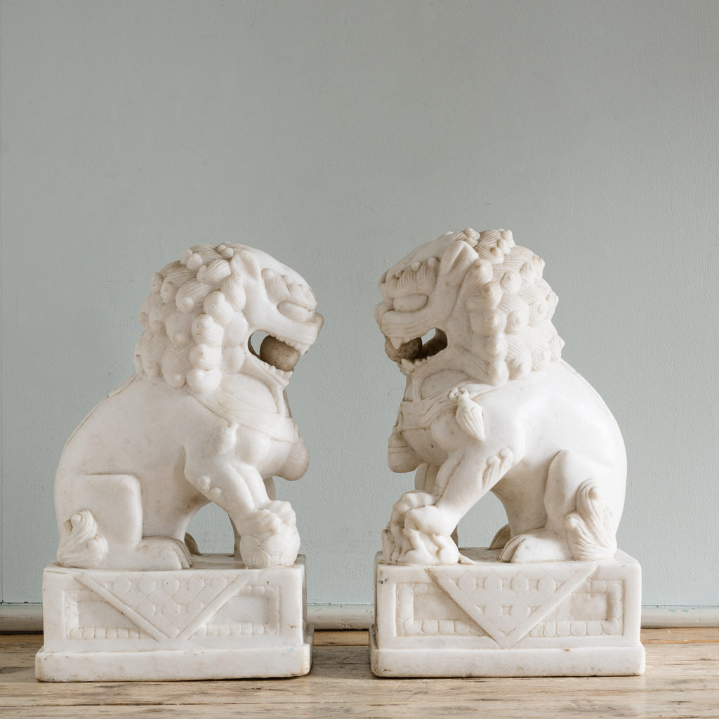 often referred to as Guardian Lions