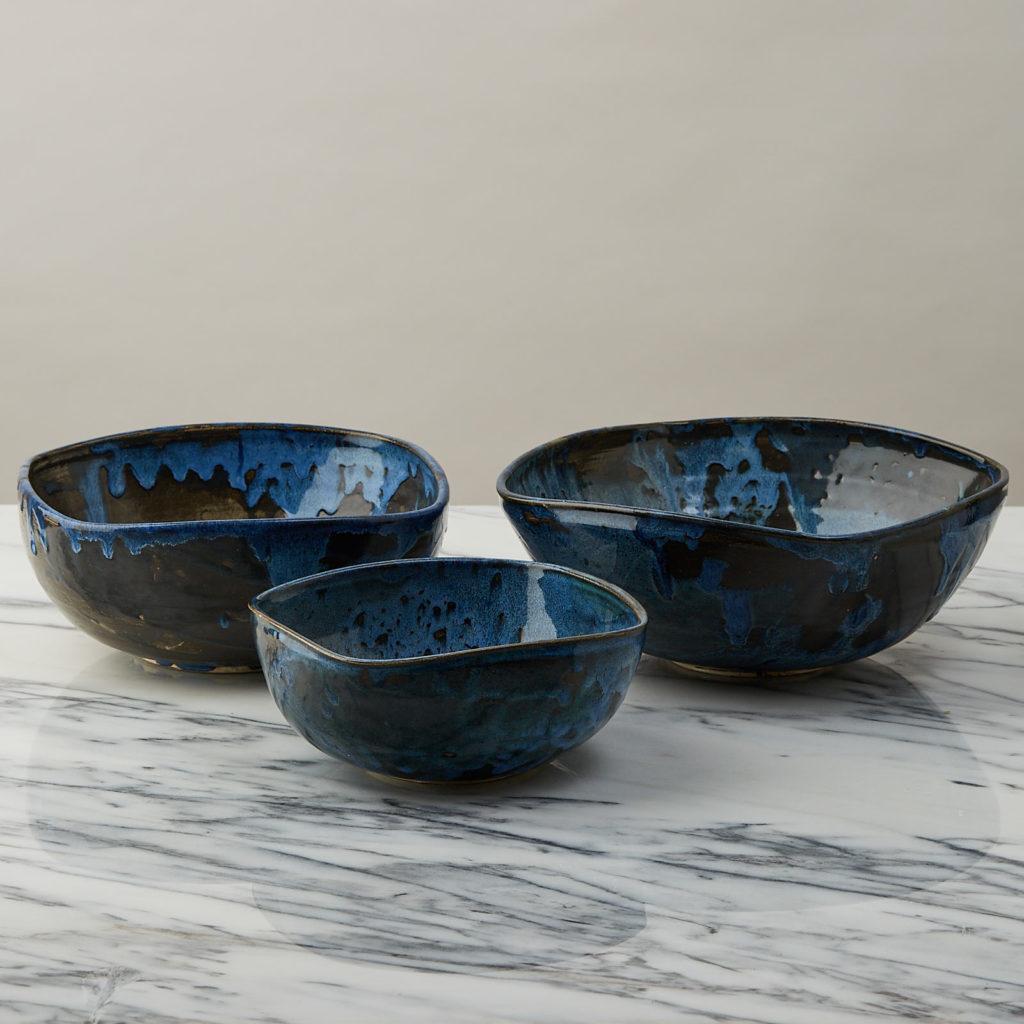 A nesting set of ceramic bowls,-127351
