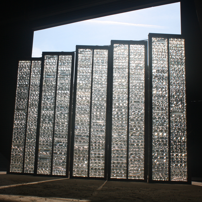Whitefriars Glass wall