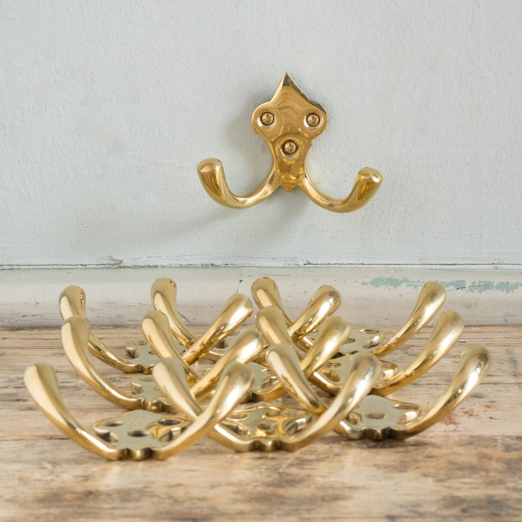 Brass double hooks