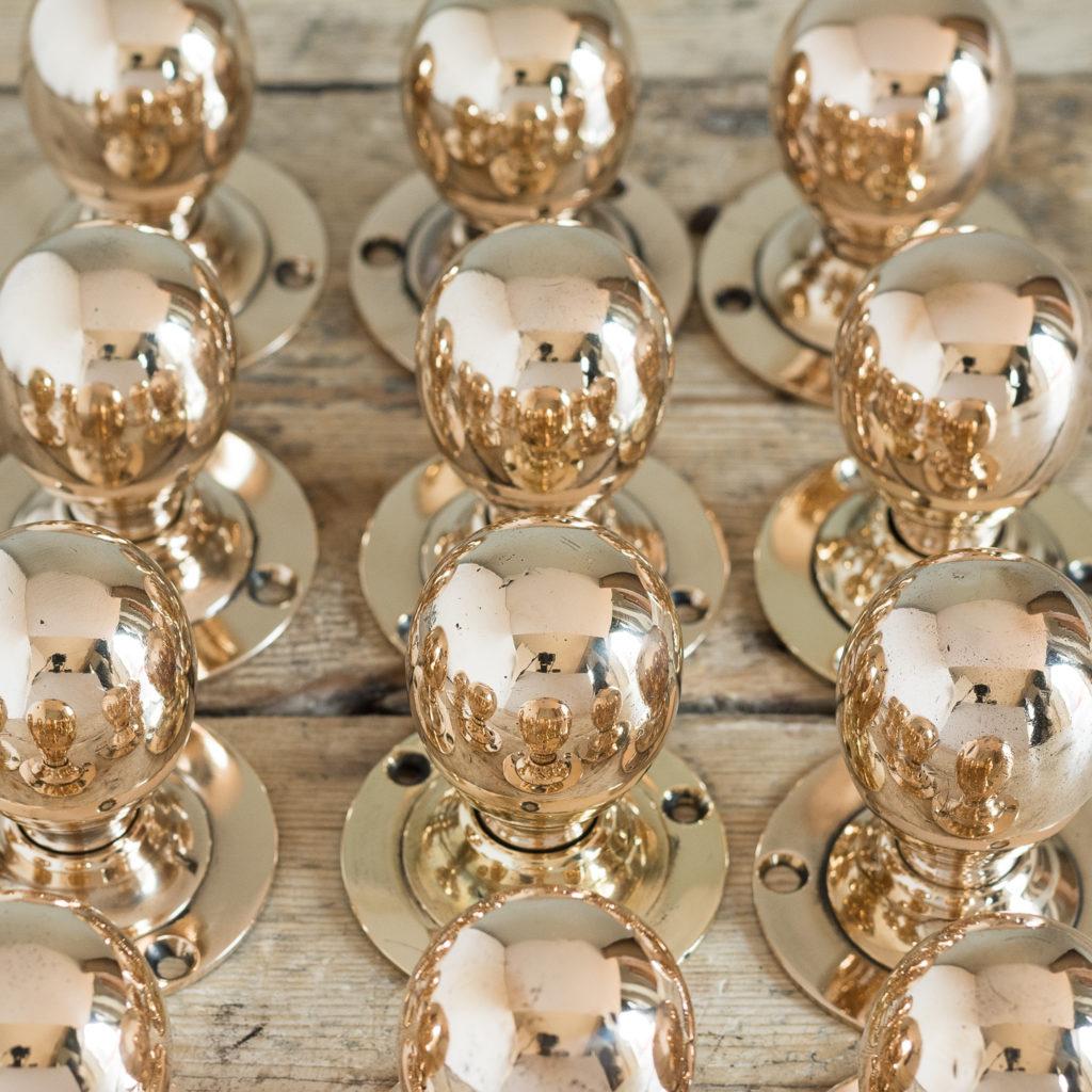 'KAYE' of Leeds rose brass door knobs,