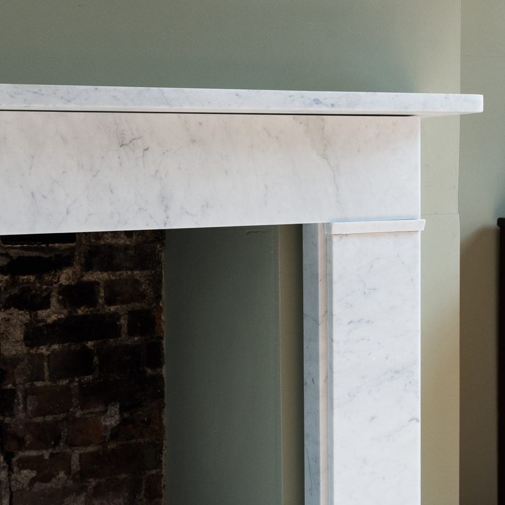 Victorian style Carrara marble flat-front chimneypiece,-127137