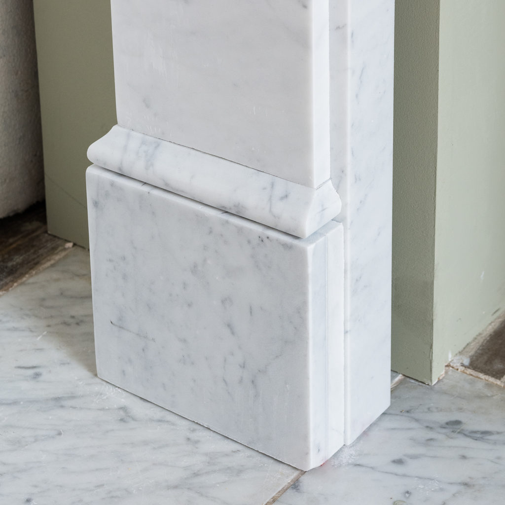 Victorian style Carrara marble flat-front chimneypiece,-127141