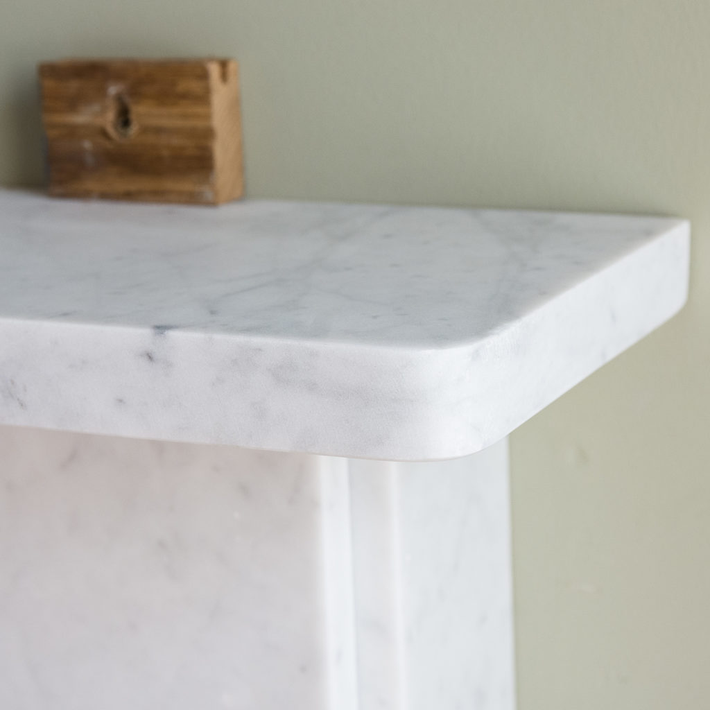 Victorian style Carrara marble flat-front chimneypiece,-127143