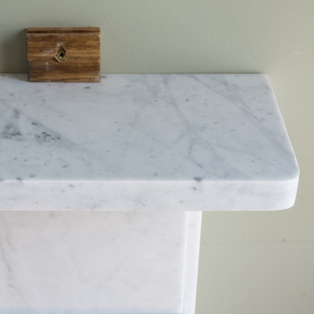 Victorian style Carrara marble flat-front chimneypiece,-127144
