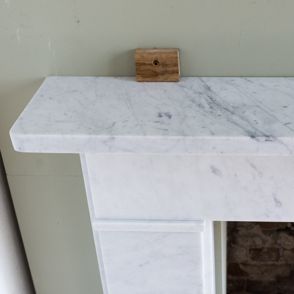 Victorian style Carrara marble flat-front chimneypiece,-127146