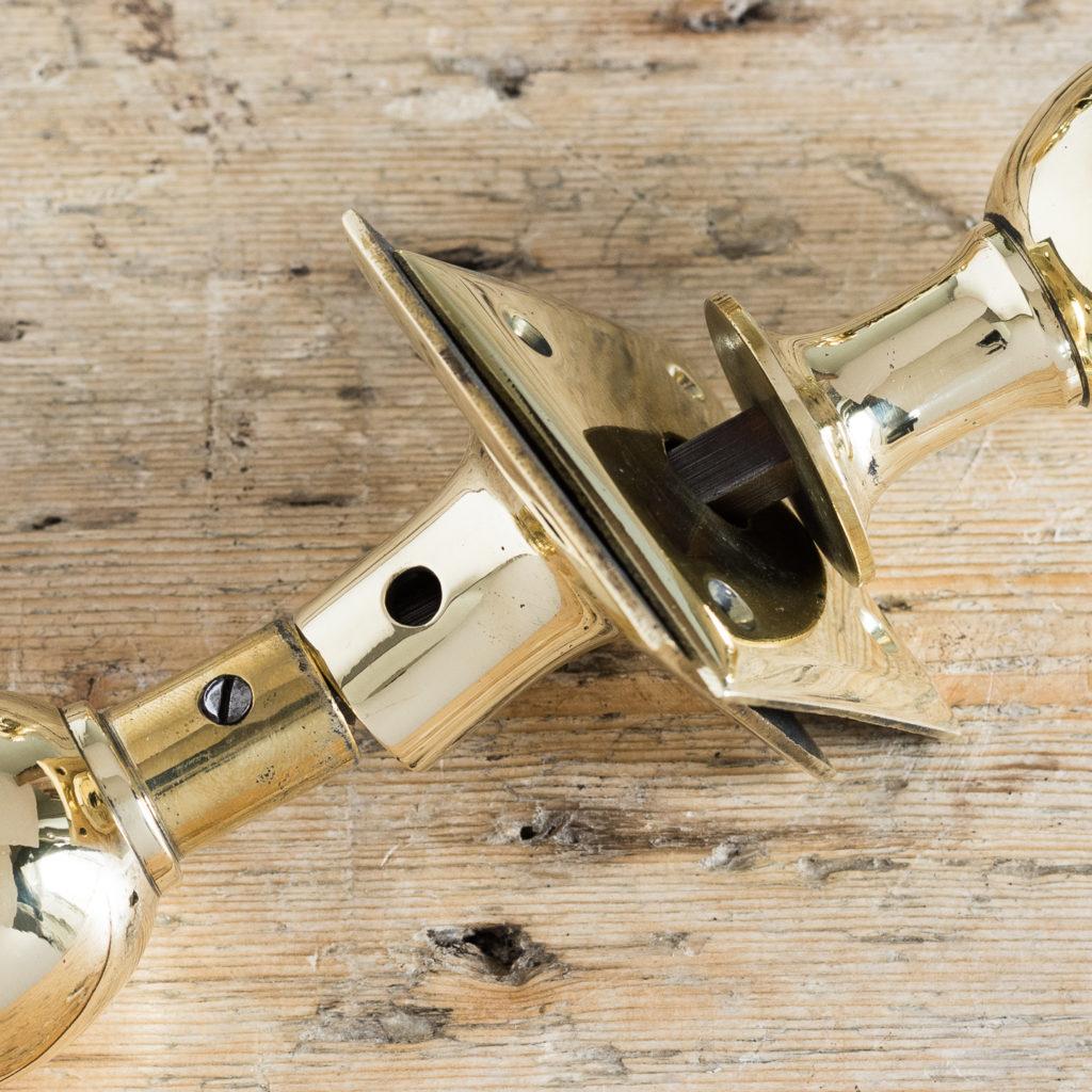 Edwardian brass door knobs,