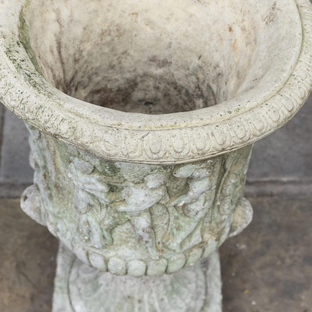 Pair of reconstituted stone Medici urns,-127518