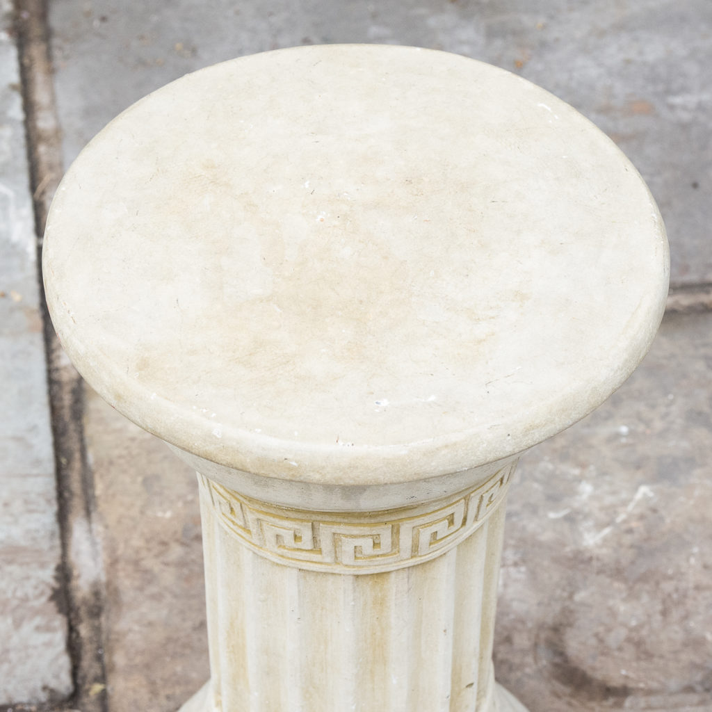 Fluted cast stone pedestal, -127611