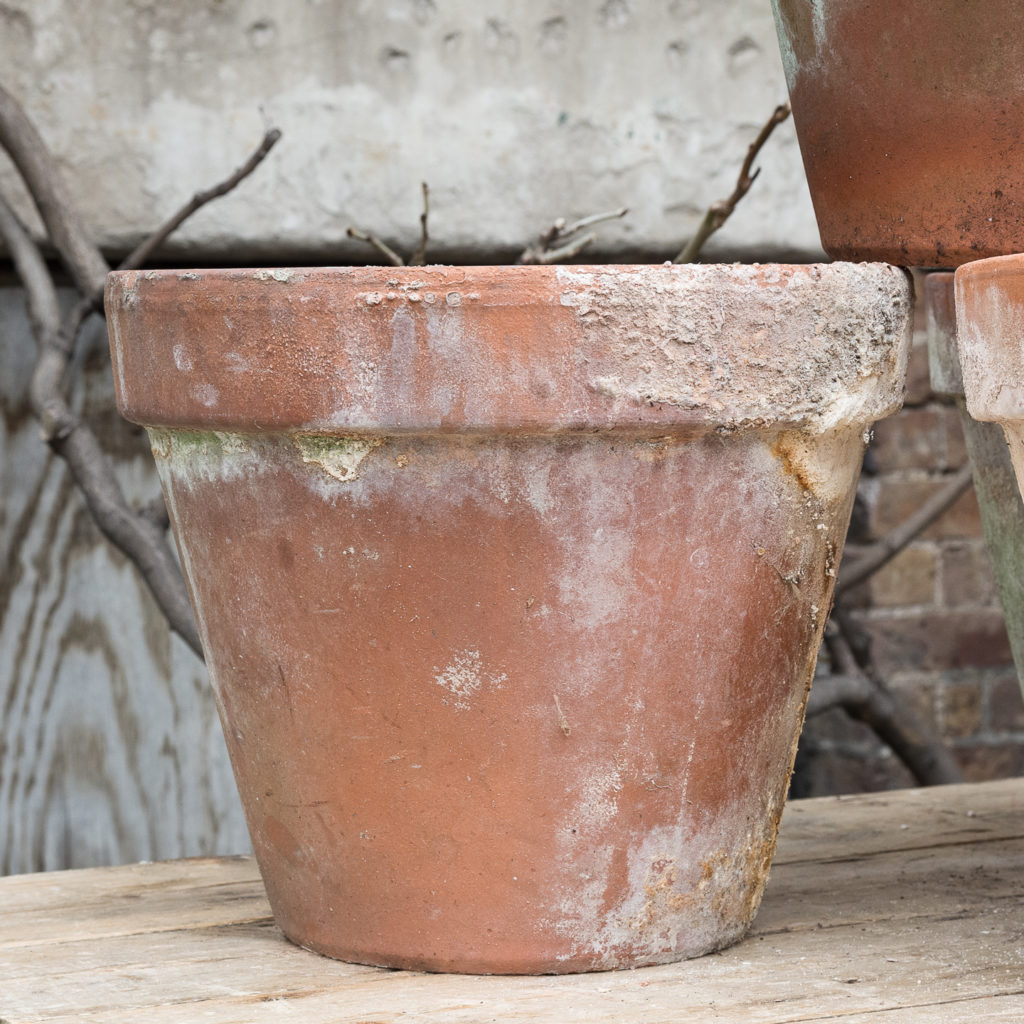 Weathered terracotta planters,