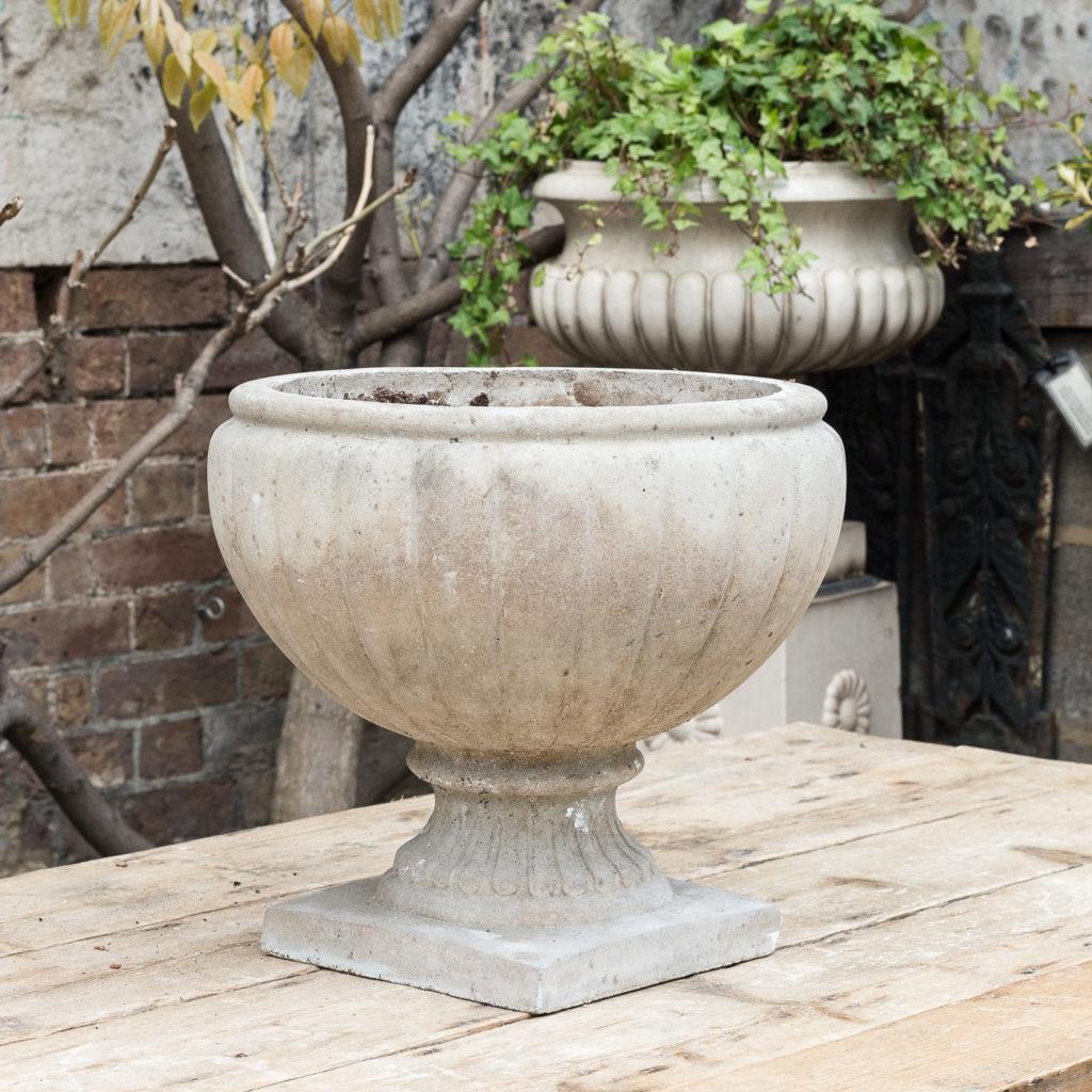 Twentieth century cast stone planter,