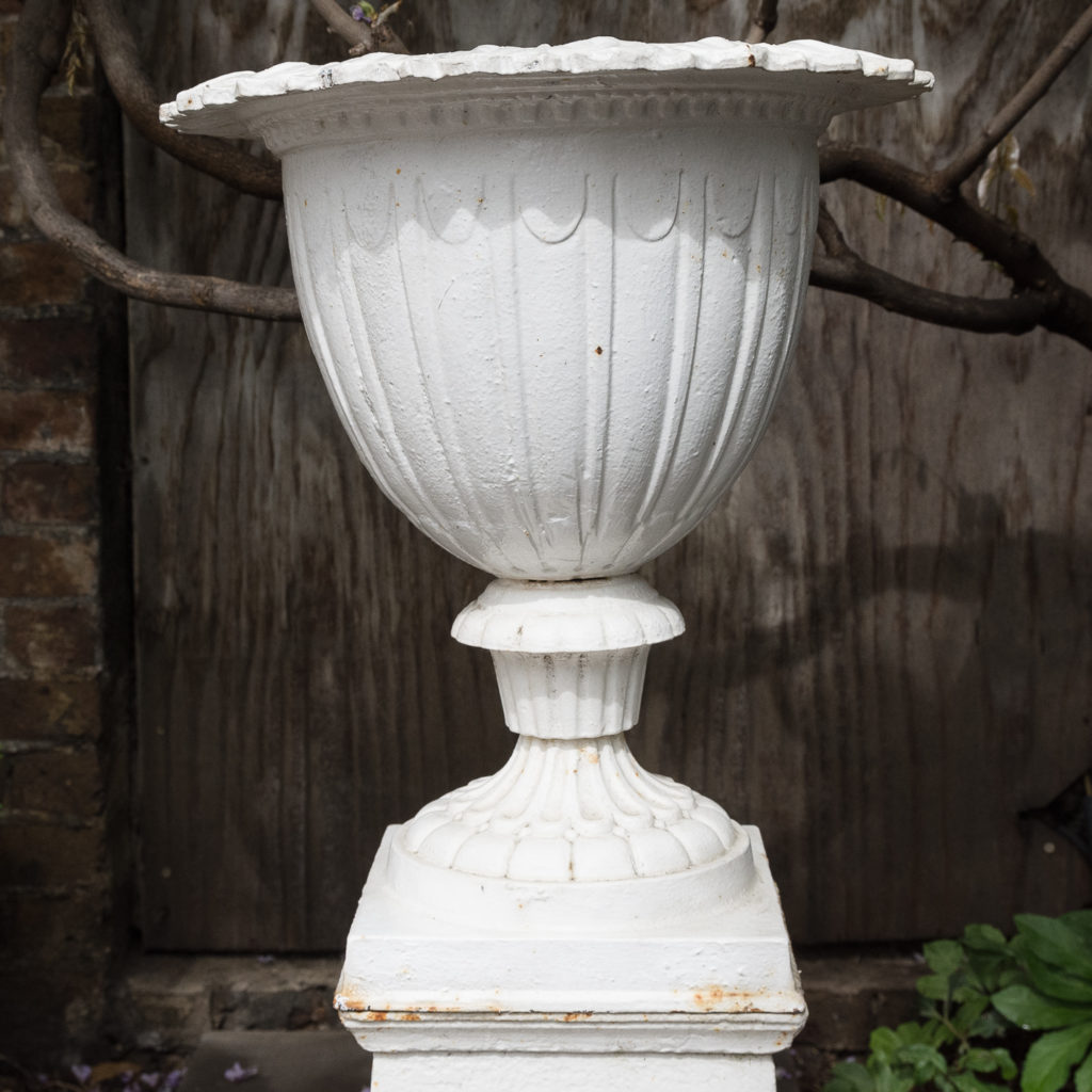 Pair of cast iron urns in the Classical taste,-126974