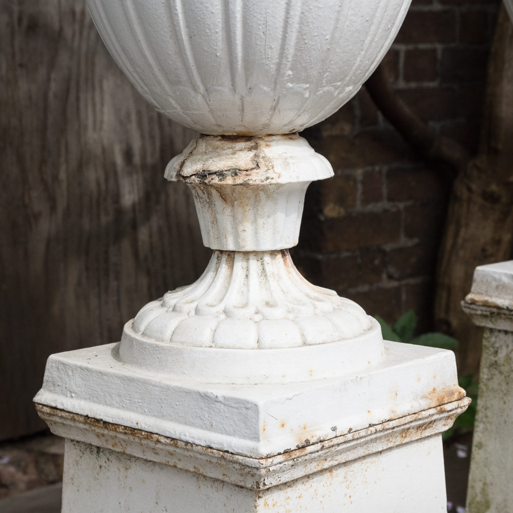 Pair of cast iron urns in the Classical taste,-126975
