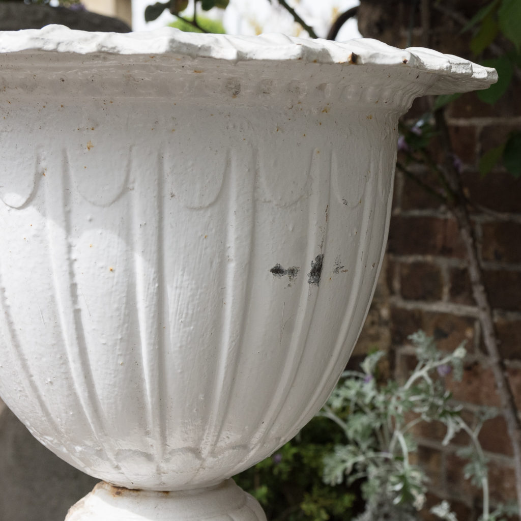 Pair of cast iron urns in the Classical taste,-126981