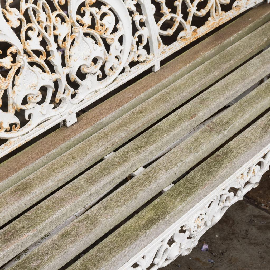 Cast iron garden bench,-126968