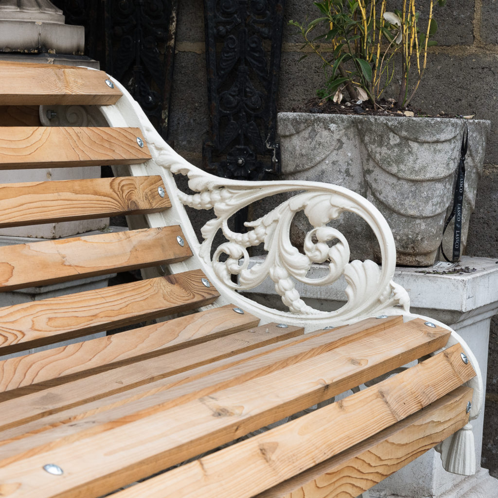 Two Victorian style cast iron benches,-127784
