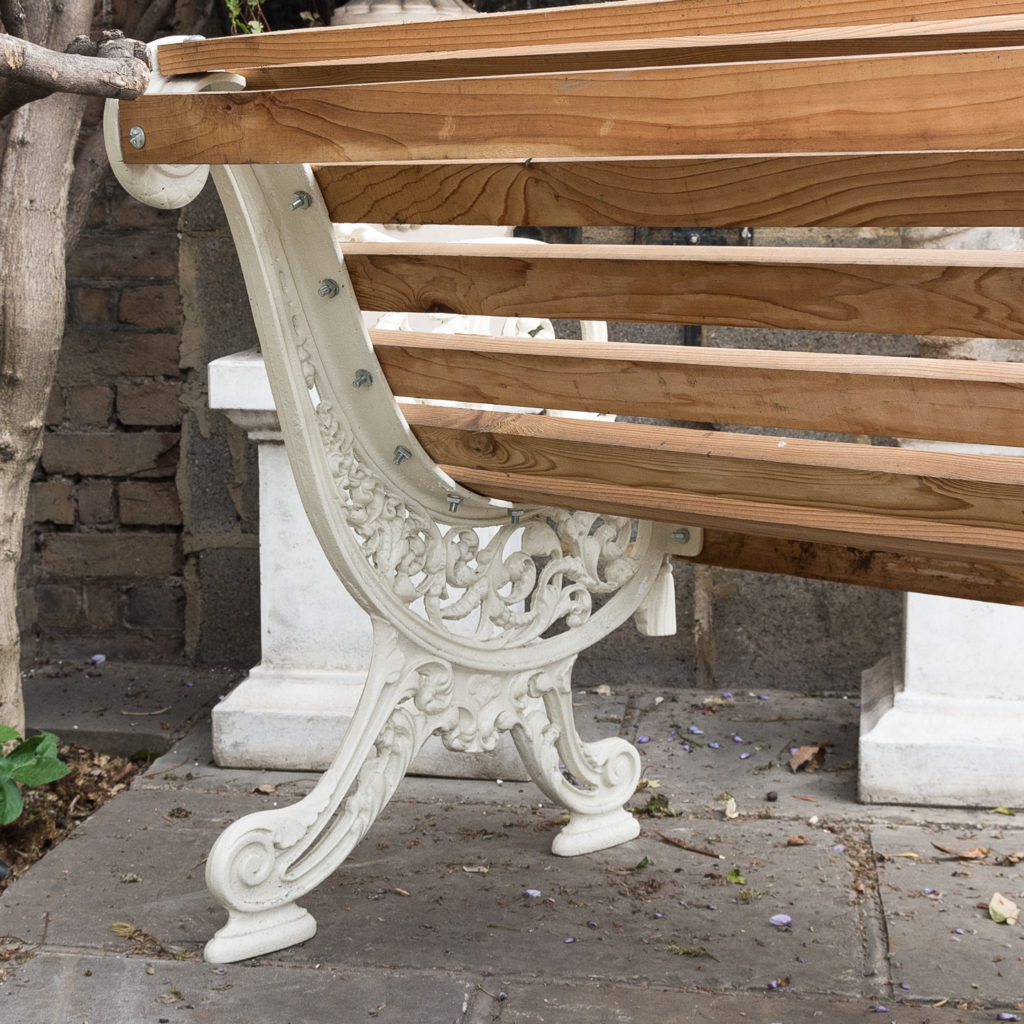Two Victorian style cast iron benches,-127790