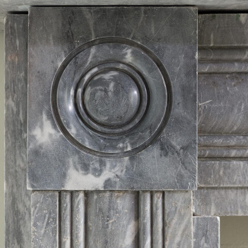 Regency dove grey marble bullseye chimneypiece,-127038
