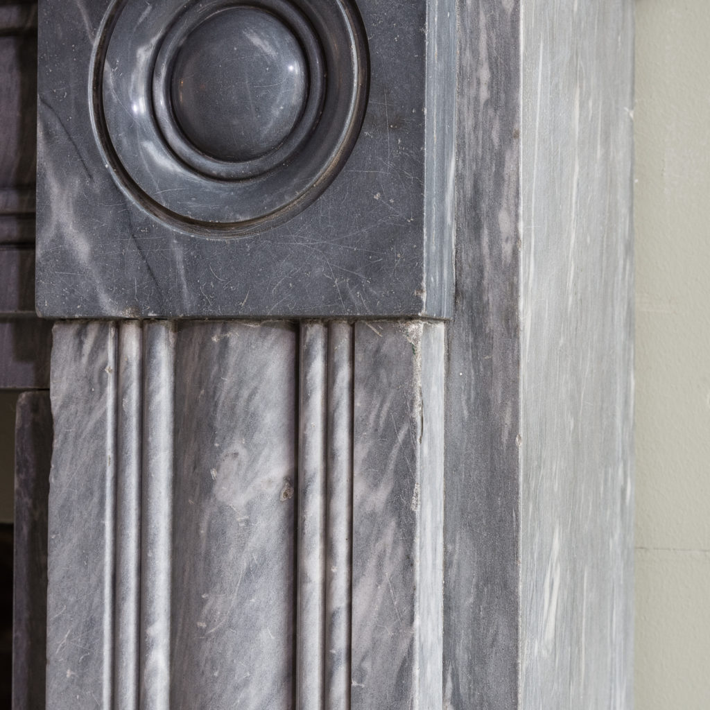 Regency dove grey marble bullseye chimneypiece,-127040