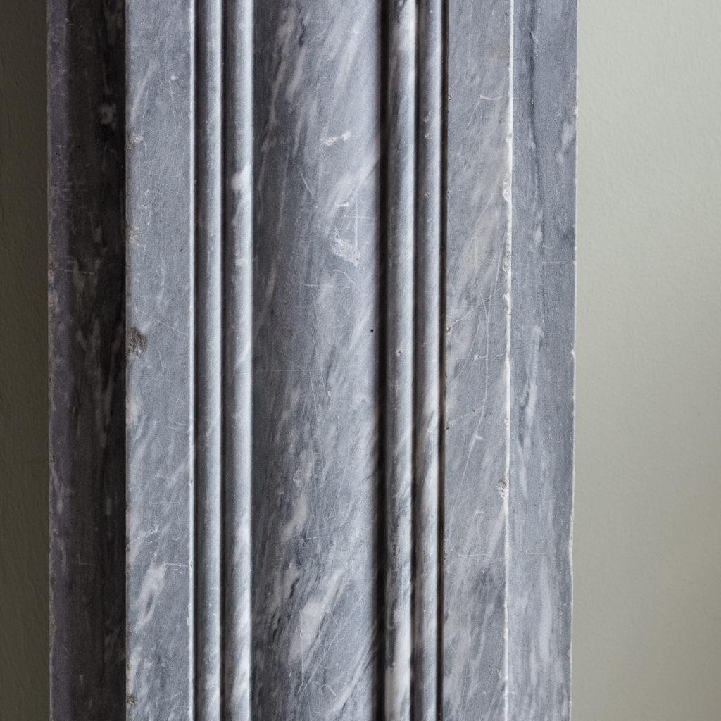 Regency dove grey marble bullseye chimneypiece,-127041