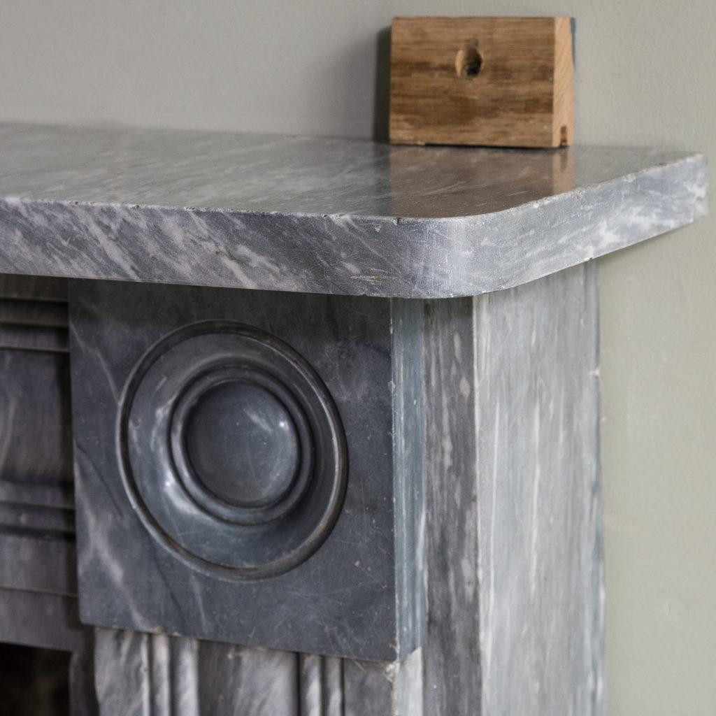 Regency dove grey marble bullseye chimneypiece,-127044