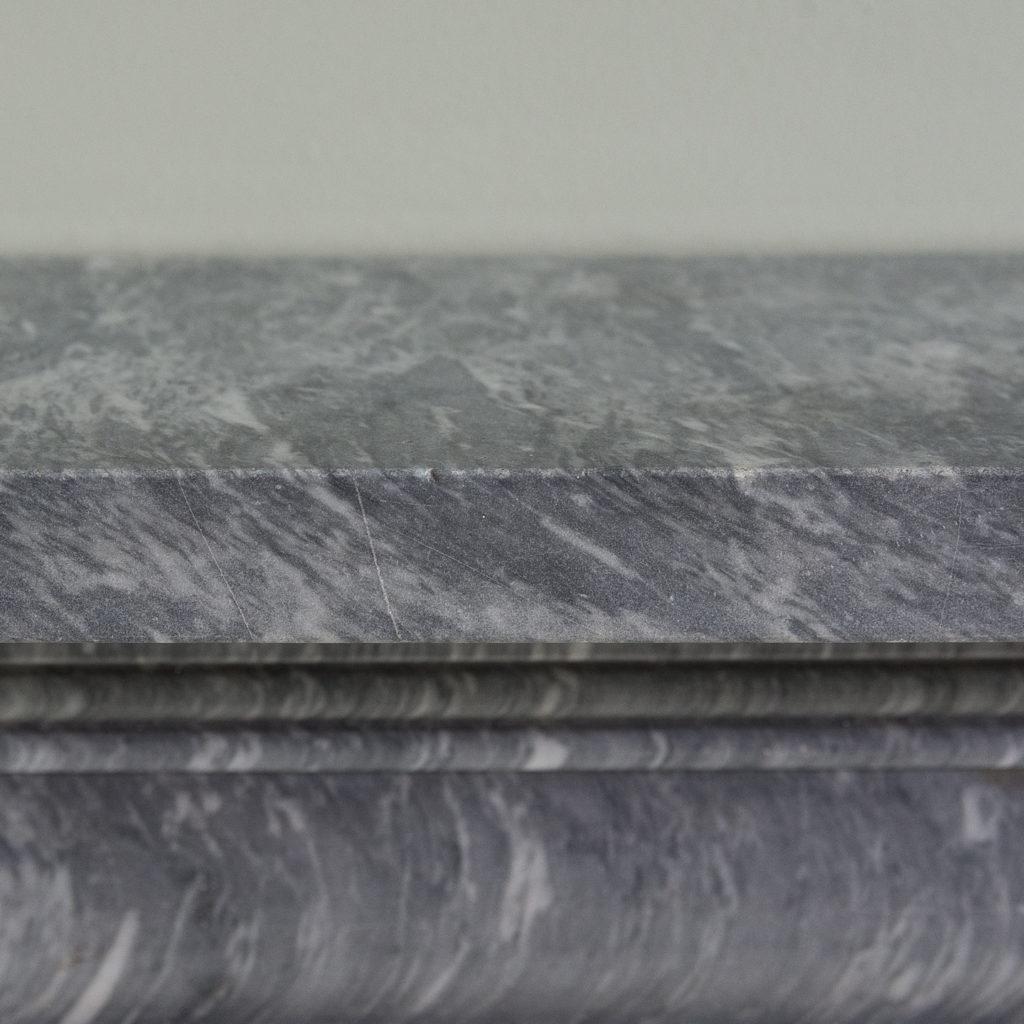 Regency dove grey marble bullseye chimneypiece,-127046