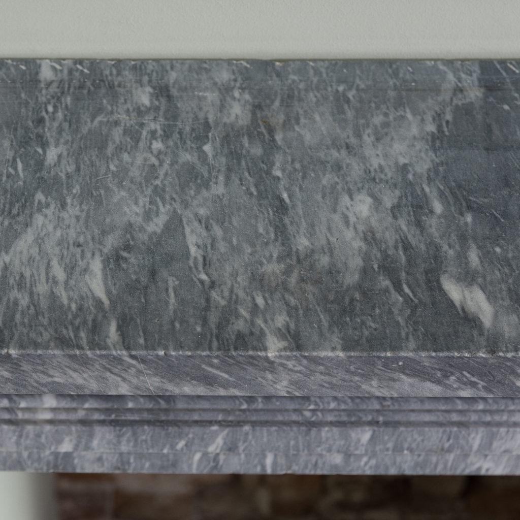 Regency dove grey marble bullseye chimneypiece,-127048