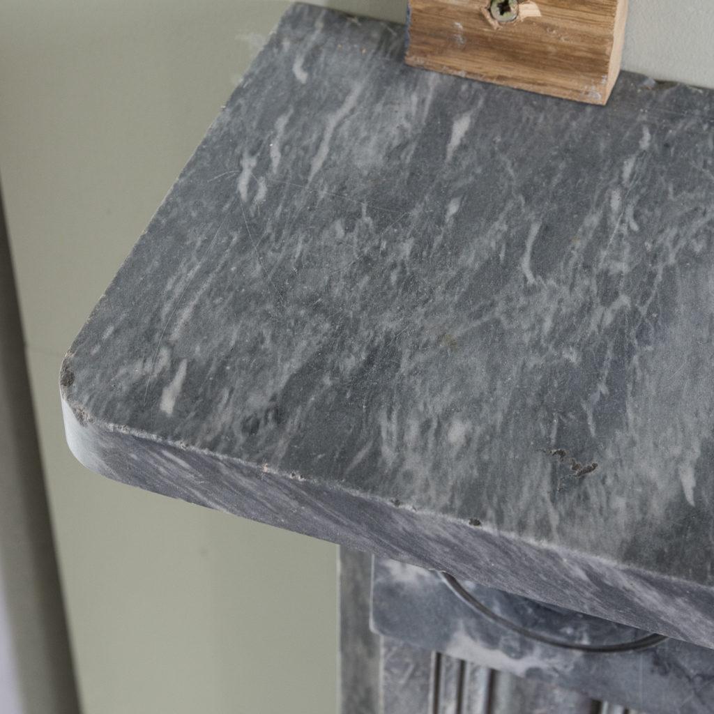 Regency dove grey marble bullseye chimneypiece,-127049