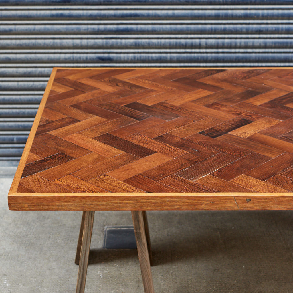 Reclaimed Panga Panga parquet block work surface,-127821
