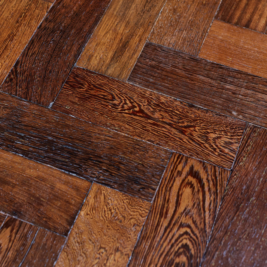 Reclaimed Panga Panga parquet block work surface,-127823