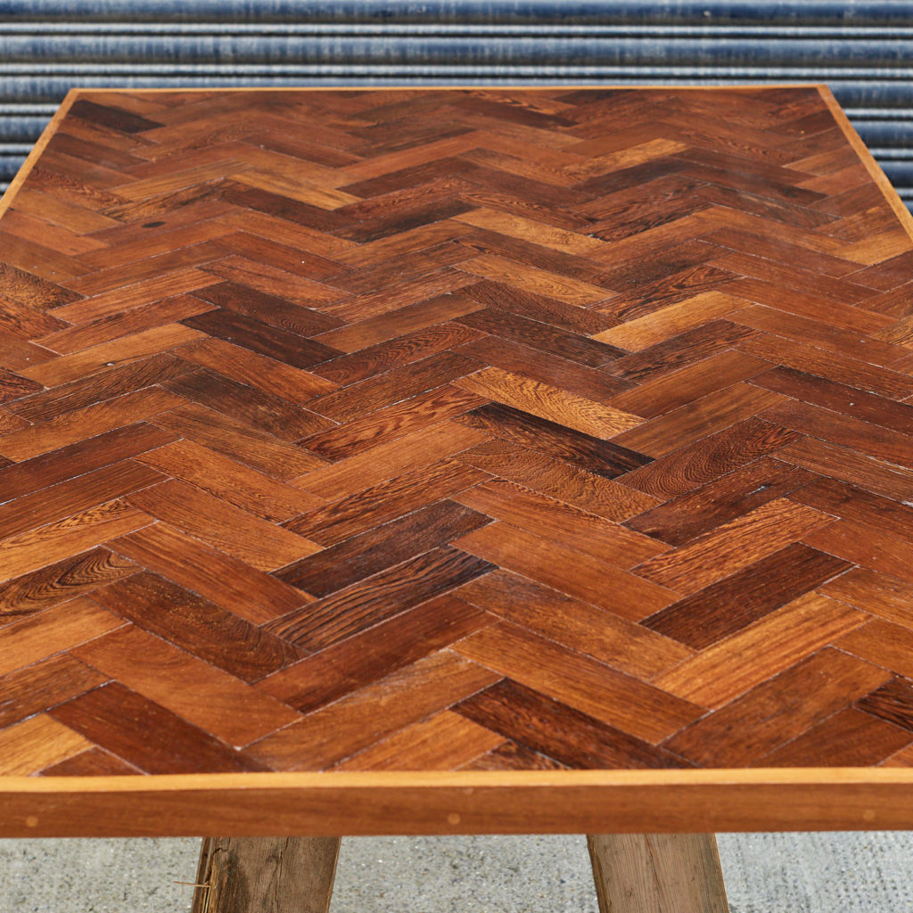 Reclaimed Panga Panga parquet block work surface,-127825