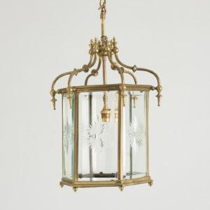 Georgian style brass hall lantern,
