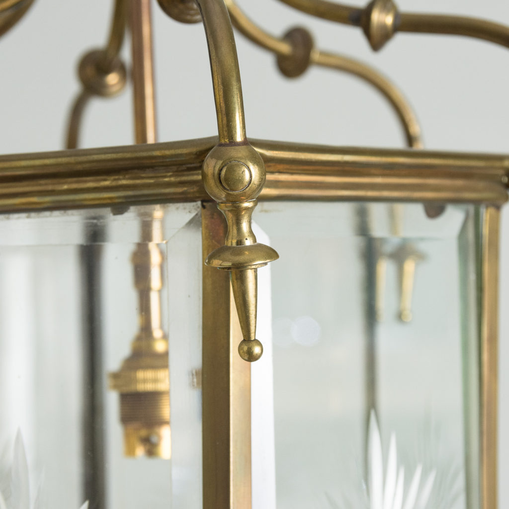 Georgian style brass hall lantern,-135546