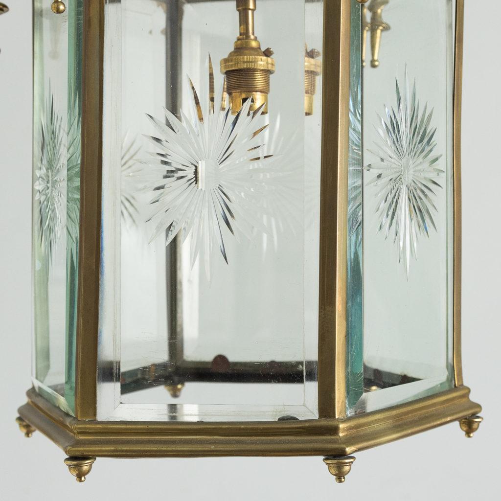 Georgian style brass hall lantern,-135550